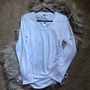 Gap | White Ruched Long Sleeve Sweater Shirt